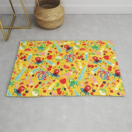 Candy Pattern - Yellow Rug