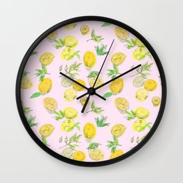 Citrons Jaunes Wall Clock