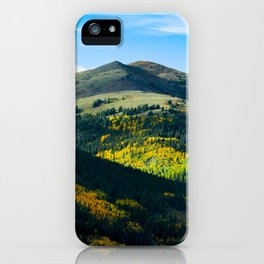 Beautiful Green Mountain Valley Green Fields Littered With Trees Magical Fairytale Landscape iPhone Case