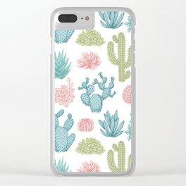 Cactus club Clear iPhone Case