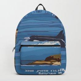 Vintage Poster - San Juan Islands National Monument, Washington (2015) Backpack