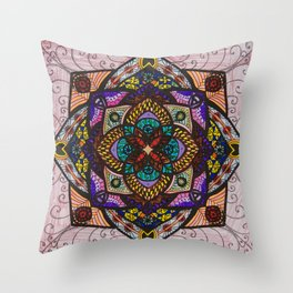 Love Mandala - מנדלה אהבה Throw Pillow
