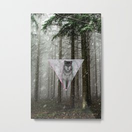Forest Triangle Metal Print