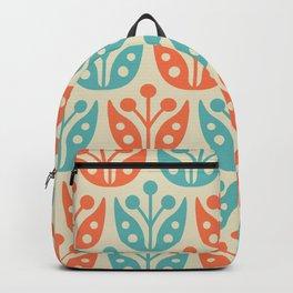 Mid Century Flower Pattern 2 Backpack