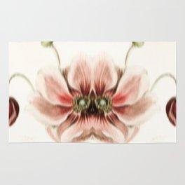 Botanical Flower Glitch IV Rug
