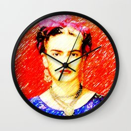 Looking for Frida Kahlo... Wall Clock