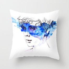 COLOUR ME BLUE | TROYE SIVAN ARTWORK Throw Pillow
