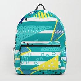Venice Beach Triangle Pattern Backpack