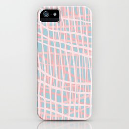 Net Blush Blue iPhone Case