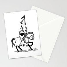 Knight of broken hearts Stationery Cards