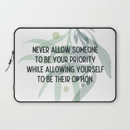 Be your priority - Mark Twain Collection Laptop Sleeve