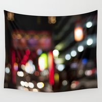 melbourne Wall Tapestries featuring Light Art | Melbourne city (Chinatown) by Carmen Lai Graphics