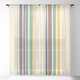 Rainbow Stripes IV Sheer Curtain
