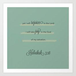 Habakuk 3:18 - 2  Art Print