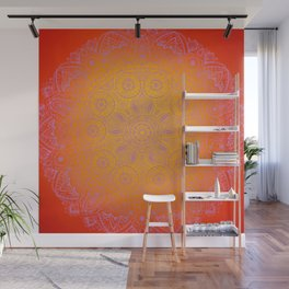 Sunshine Mandala Purple Wall Mural
