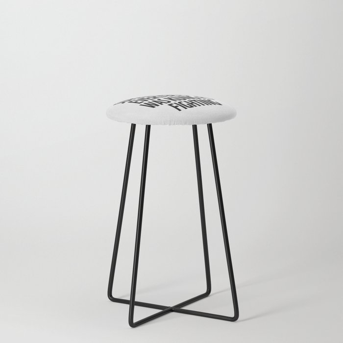 Surely Not Everybody Was Kung Fu Fighting Counter Stool