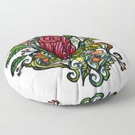 Rose Tattoo Floor Pillow