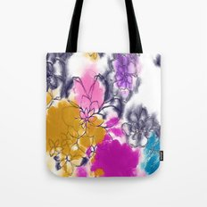Abstract Flowers - Watercolour Paiting Tote Bag