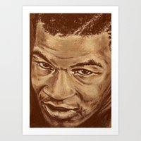 mike wrobel Art Prints featuring mike by noblackcolor