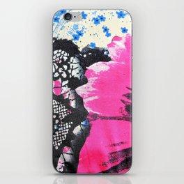 Pink Flower | fleur rose iPhone Skin