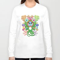 monster Long Sleeve T-shirts featuring Monster by HOOKEEAK