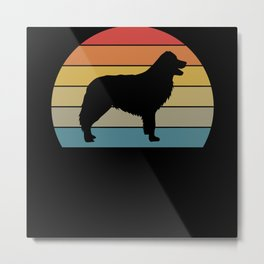 Retro Border Collie Dog Love Dogs Gift Metal Print