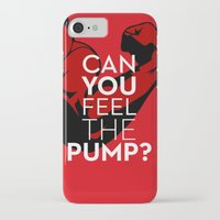 crossfit iPhone & iPod Cases featuring CAN YOU FEEL THE PUMP? FITNESS SLOGAN CROSSFIT MUSCLE by HAPPY
