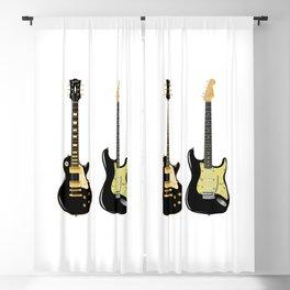 Black Guitar Duo Blackout Curtain