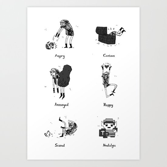 The Many Moods of a Hero Art Print