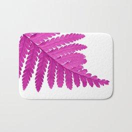 pink fern leaf I Bath Mat