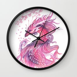 Wind of blossom Wall Clock