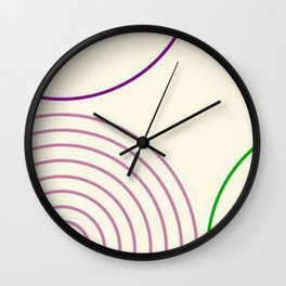 Motif circulaire Wall Clock