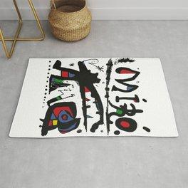 Joan Miro - Eaux Fortes 1983 - Artwork for Wall Art, Prints, Posters, Tshirts, Men, Women, Youth Rug