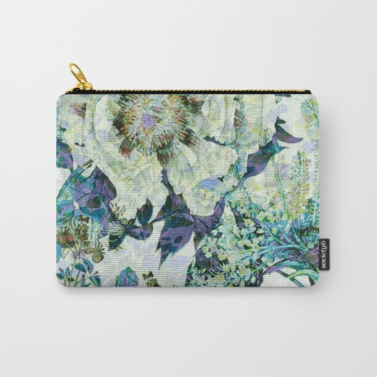 floral in blue Carry-All Pouch