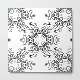 Ornate snowflake Metal Print