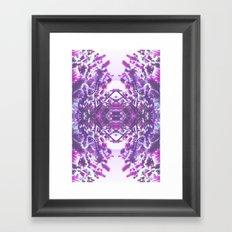 winter in purple Framed Art Print