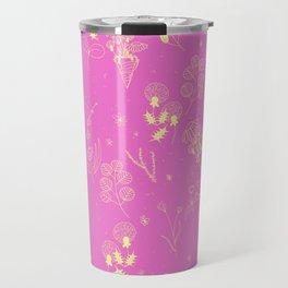 Flower Party (Pink) Travel Mug