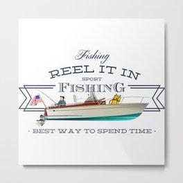 fishing tee Metal Print
