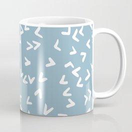 Light Blue and White Birds Coffee Mug