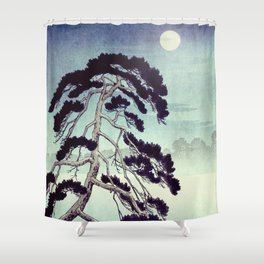 At the Moon in Zensein Shower Curtain