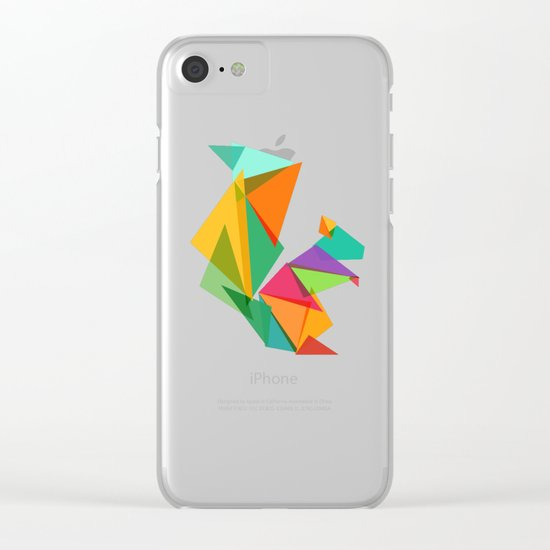 Fractal geometric Squirrel Clear iPhone Case
