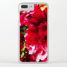 Red Gerbera Daisy Abstract Clear iPhone Case