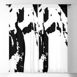 Black & White English Lop Blackout Curtain