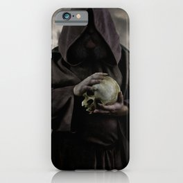 Holding a male skull iPhone Case