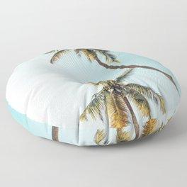 Palm Tree Beach Summer Floor Pillow
