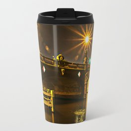 Night on the Moltke-Bridge in Berlin Travel Mug