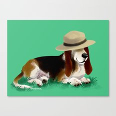 Spud the Basset Canvas Print