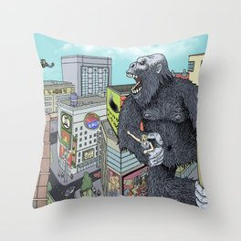Rocket Boy vs Death Gorilla Throw Pillow