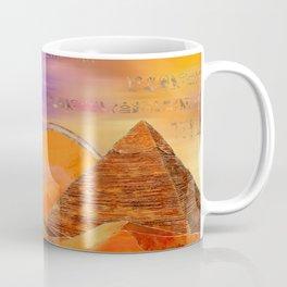 Egyptian pyramids abstract landscape Mixed Media Coffee Mug