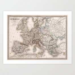 First French Empire in 1812 Art Print